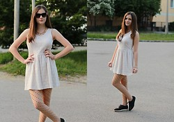 Amanda Nyolcas - New Look Dress, H&M Thights, Ebay Shoes, H&M Sunglasess, Ebay Necklace - Modern Princess