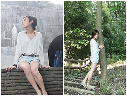 Yuko Tanaka - Moussy Top, Zara Shorts, Shoes - Lost in a fairytale