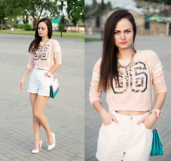Ann Kos - Denim Co Top, St.Michael Short, Asos Jewelry, Kira Plastinina Bag, Axis Shoes - Number 86