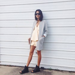 Yan Yan Chan - Cameo The Label Coat, Finders Keepers The Label Playsuit, Kobe Husk Mandals - Back from my disappearance.