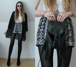 Astrid H - H&M Cardigan, H&M Shoes, H&M Backpack - Almost is never enough