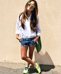 Gina Y - Armani Exchange Blouse, Rock & Republic Shorts - Less is more