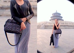 Marah Saliot - Hedgren Bag, Forever 21 Maxi Dress, Cache Jacket - When in China