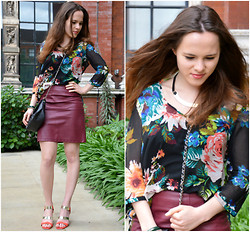 Alena - H&M Blouse, H&M Skirt, &Other Stories Heels, Asos Bag, Bimba Y Lola Bracelet, H&M Necklace - Classy, colourful, with a twist