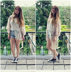 Angela VR - Forever 21 Kimono, Converse All Stars -  The moment that you want is coming if you give it time