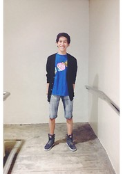 Juven Maranan - Uniqlo Cardigan, Dc Candy Tee, Cotton On Denim Shorts, Dc Torstein's Porter - Candy On Me