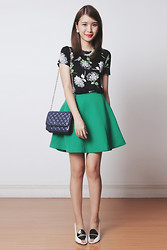 Tricia Gosingtian - Murua Skirt, Emoda Bag, Blackfive Dress Used As Top, Gold Dot Shoes - 051614