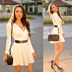 Jessica R. - Coach Black Bag, Missguidied Dress, Ivanka Trump Heels - Simple is Sweet