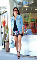 Eye Like Fashion - Nasty Gal It's A Trip Shorts, Abs Signature Denim Jacket - Laced Tulip Shorts