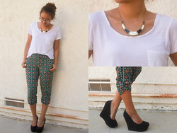 Brittany Ting - Cotton On Top, Macys Harem Pants, Justfab Wedges - Reload