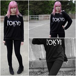 Nora - Cubus Tokyo Shirt, Dinsko Heels - On Wednesdays we wear black.