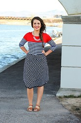 Cecilia H - Toadorn Striped Shirt - Stripes and Pops of Primary Colors
