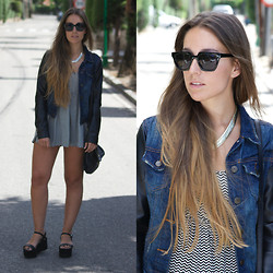 Claudia Villanueva - Primark Jacket, Double Agent Playsuit, Zara Bag, Zara Sandals - Geometric Print