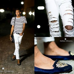 Yago Rodrigues - Velluma Slipper, Damyller Destroyed, Fiveblu Bolsa - Look Of The Day - Reminds Me Of Rio!