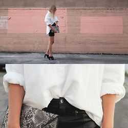 Sara Moeller - Levi's® Shirt, H&M Skirt, Zara Shoes, H&M Clutch - SIMPLE SONG.