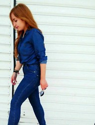 Maria Pasiali - Zara Denim Shirt, Zara Skinny Jeans - -Jeans represent democracy in fashion--