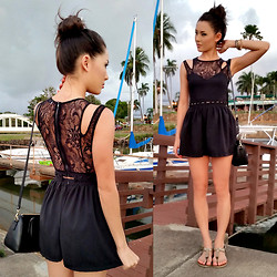 Jessica R. - Tobi Black Playsuit - Black as Night