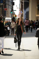 Bruna Marx - Free People Parka, Zara Boots, Mulberry Bag - A Face in the crowd