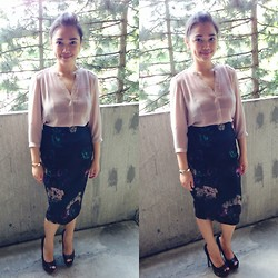 Iza Fugen - H&M Top, H&M Skirt, Aldo Heels - Pencil Skirt