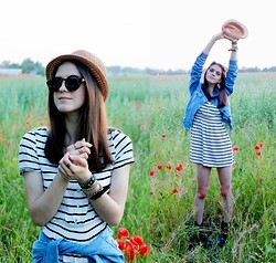 Alina Krasnaya - H&M Dress, Bershka Jackets, Reserverd Hat - WILD CHILD