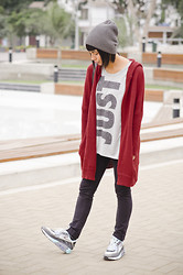 Alessandra Mazzini - Camote Soup Cardigan, Camote Soup Beanie, Nike Shirt, Nike Air Max, H&M Pants - Just