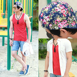 Nick Ronquillo - Manual Clothin Floral Cap, Memo Button Down - Floral Kid