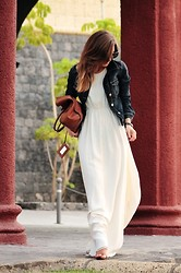Luba { Well Living Blog } - Zara Jacket - White and Maxi