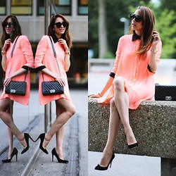 Virgit Canaz - Supertrash Pumps, Axparis Preppy Dress - Tangerine