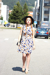 Cátia Gonçalves - Romwe Dress, Jeffrey Campbell Heels, Parfois Black Hat - The less you care the happier you will be