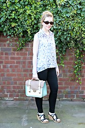 Amy Keeling - Peacocks Satchel, Dorothy Perkins Blouse, Dorothy Perkins Jeggings - If I were a Butterfly...