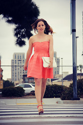 Elyse Cornett - Francesca's Dress, Francesca's Earrings, Poetic License Heels, Steve Madden Bag, Forever 21 Bracelet - Sweet Sorbet