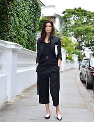 Hedvig ... - Victoria Beckham Cropped Trousers, Céline Top, Acne Studios Blazer, Jimmy Choo Shoes, Tods Bag - D-rings