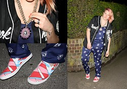 Lois Spencer-Tracey - Bucketfeet Trainers, Lavish Alice Jumpsuit, Brookhaven Top, Topshop Necklace - Eye Eye Jumpsuit