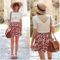 Steffy Degreff - Forever 21 Skirt - Flowers...