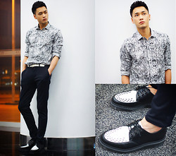 Chris Su - Asos Shirt, Dr. Martens Boots - Get Lost
