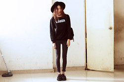 Vu Thien - Acid Clothing Sweater, Young Hungry Free Jeans, T.U.K Creepers - BORN TO LOSE