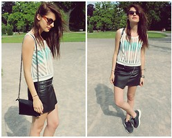 Caroo Wild - H&M Skirt, Puma Sneakers, Mango Top - Sporty Chic