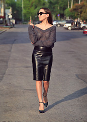Altynai Imanova - Asos Sunglasses, Asos Leather Skirt, Asos Heels - Leather for summer?