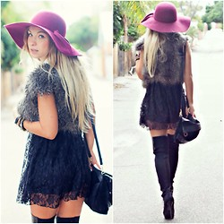 Anna Whyte - Asos Dress, Kookai Fur - Boho-chic