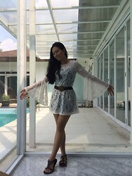 Marionette Princess - Forever 21 White Lace Long Sleeve Mini Dress - Tap tap tap