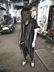 Hipsterken P - Hooded Shawl Vest, Draped Tee, Harem Pant, 4 Eyes, Underground Creeper - Someday