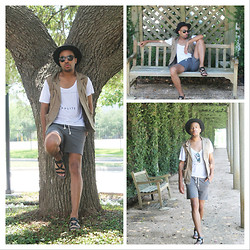 Couture Conception - France Sarto, Mason And Berkley T Shirt, Topshop Grey Shorts - Express Yourself