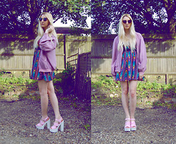 Laura Rogan - Cat Called Esteban Bomber Jacket, Asos Dress, Spylovebuy Shoes - The vintage bomber