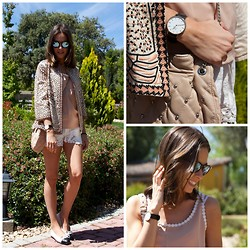 Marta Carriedo - Mr. Boho Sunglasses, Zara Blazer, Zara Bag - NEW HAIR STYLE!