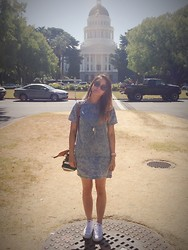 Natalia Hartanto - A.J. Morgan Castro Sunglasses, Salsit London Dress, Converse Chuck Taylor® Low Sneaker (Women), Aldo  , Follie   - Sacramento Tourist Bound