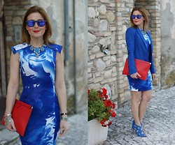 Vale ♥ - Blackfive Blue Dress, Zara Clutch, Zara Sandals - I am feeling blue !