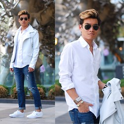 Alexander Liang - Zara Jacket, J. Crew Shirt, Lacoste Shoes - Cool White