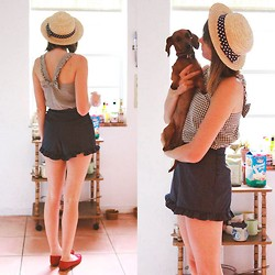 Steffy Degreff - Pepaloves Shorts - Saturdays with my pup ♥