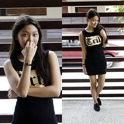 Chrissean Mae Fuentebella - Forever 21 Bodycon Dress, Cotton On Sneakers, Gucci Black Watch - Trill