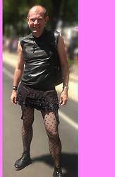 Otto - Hand Mad Leather Shirt, Dr. Martens Doc, Cheap Skirt From Amazon - Vienna Raibow Parade 2013